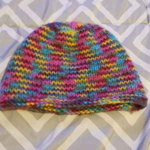 Knitted girls hat